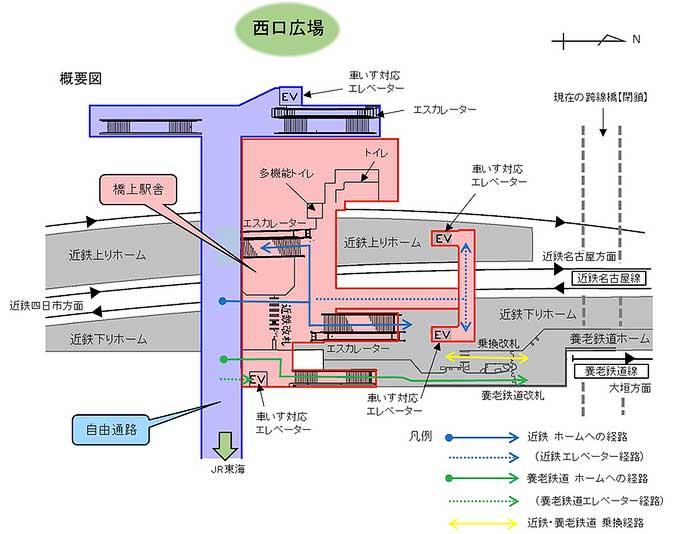桑名駅自由通路と橋上駅舎の供用を8月30日から開始