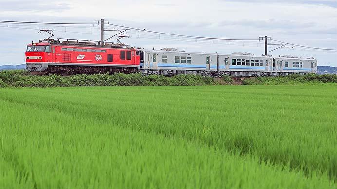 秋田地区向けGV-E400系が甲種輸送される