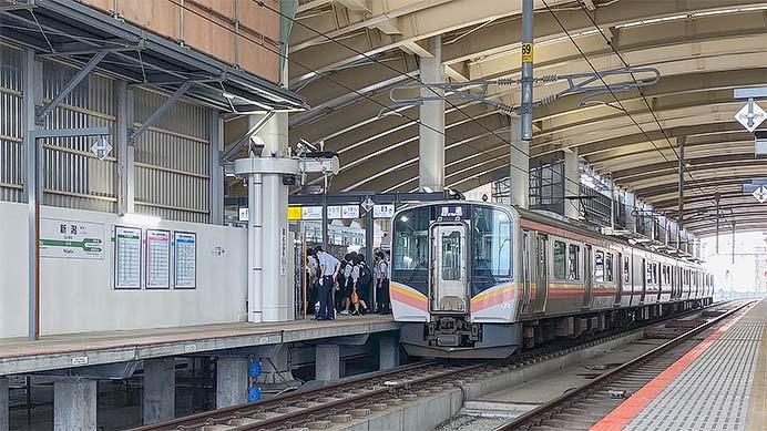 新潟駅2番線ホームが一部拡張される