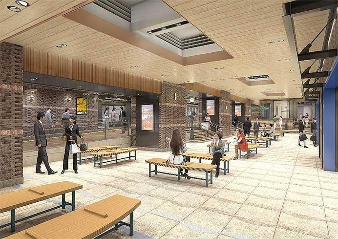 JR東日本横浜駅中央南改札と南改札をつなぐ新たな改札内エリアが8月10日にオープン