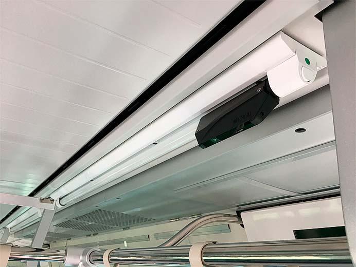 東急,LED蛍光灯一体形の防犯カメラ「IoTube」を全車両に導入完了