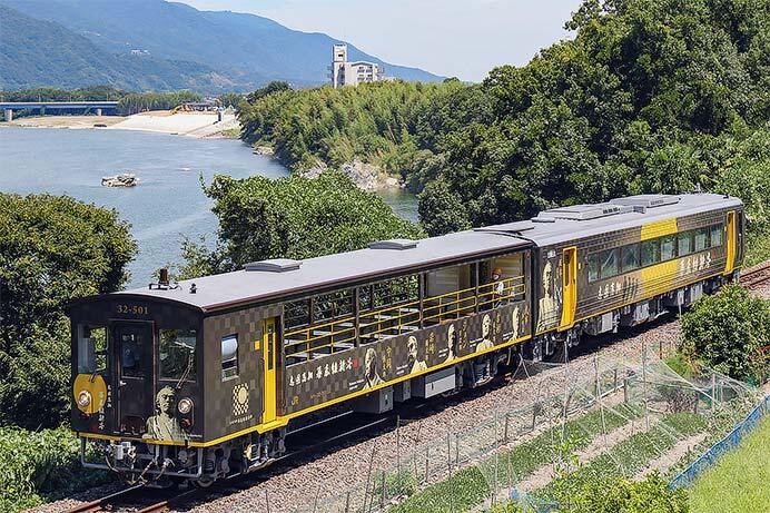 「志国高知 幕末維新号」が徳島線で試運転を実施