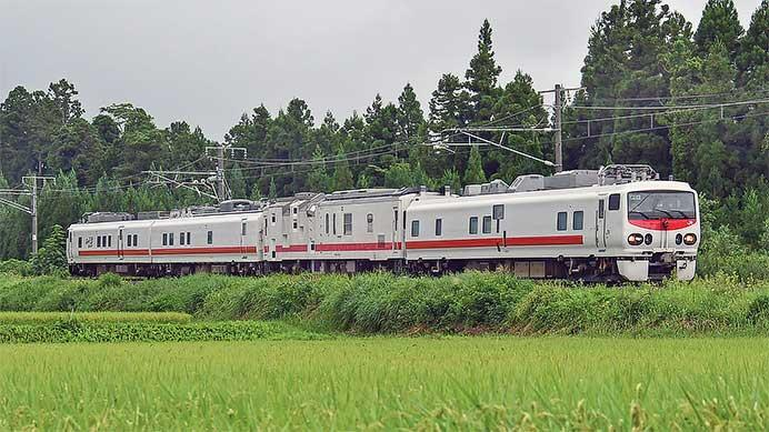 E491系「East i-E」とマヤ50 5001が,えちごトキめき鉄道内を検測