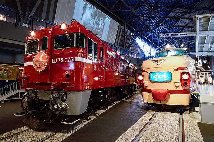 鉄道博物館で485系・ED75形の撮影タイム開催