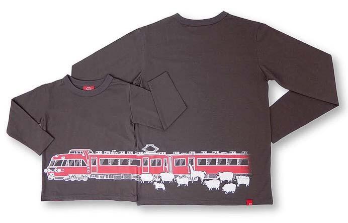 名鉄7000系がデザインされた長袖Tシャツ「名鉄パノラマカー×OJICO 2020」発売