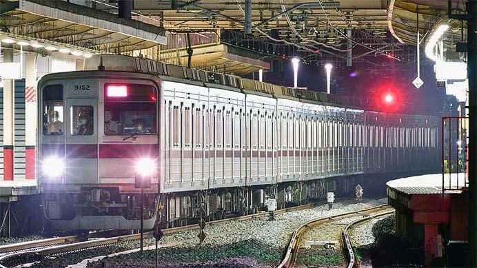 東武9050型9152編成が南栗橋へ