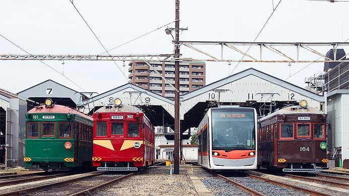 阪堺電軌で筑鉄電車(赤電)カラー・1101形の撮影会開催