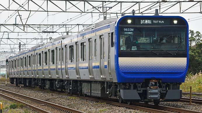 E235系1000番台 J-01編成が東海道貨物線で試運転を実施