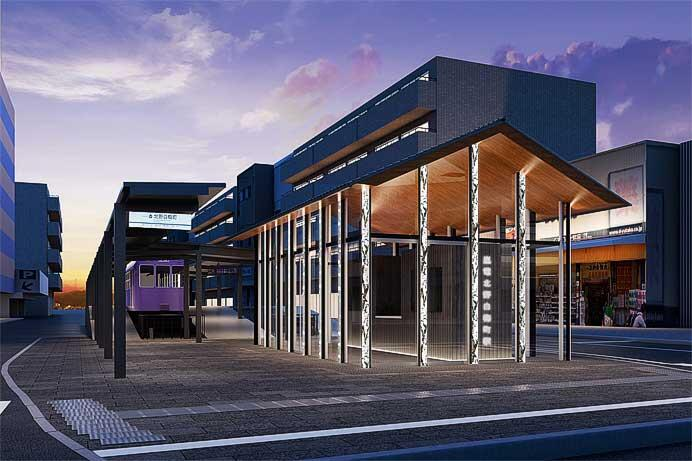 嵐電,北野白梅町駅に駅前広場と駅舎を新設
