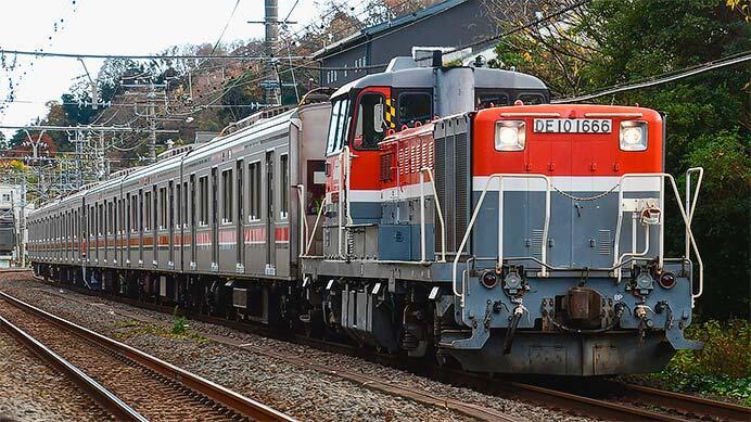 東急3000系3011編成が総合車両製作所から出場