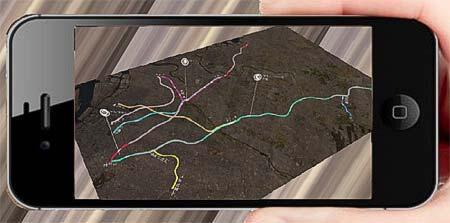 「電車とバスの博物館」 ARアプリ