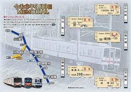 東武「令和3年3月3日記念乗車券」