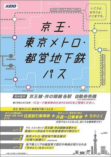 「京王・東京メトロ・都営地下鉄パス」発売