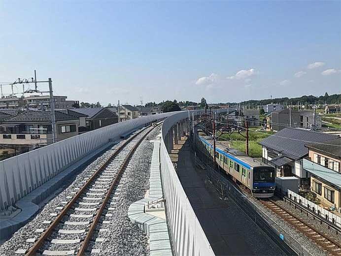 東武野田線,清水公園—梅郷間を3月28日から高架に切替