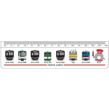 「のるるんと電車の15cm定規」