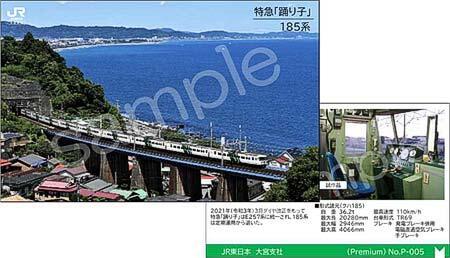 JR東日本大宮支社,鉄道車両写真のカードを発売