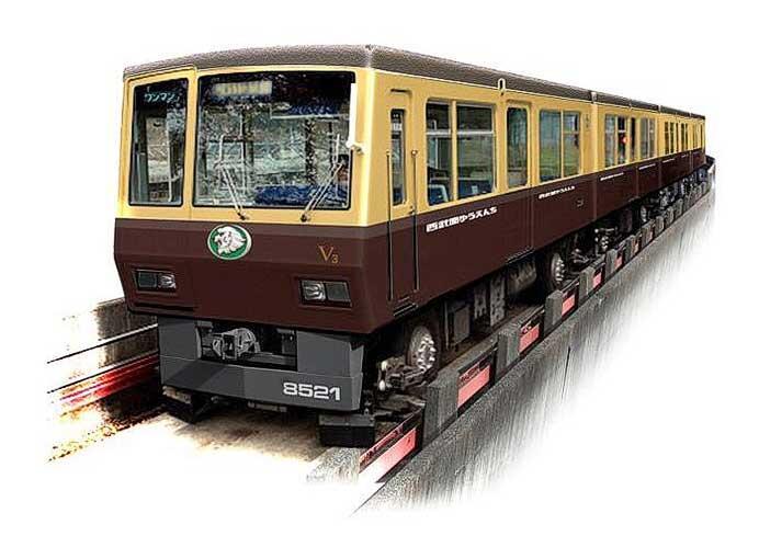 西武山口線(レオライナー)で「西武園ゆうえんちラッピング電車」を運転