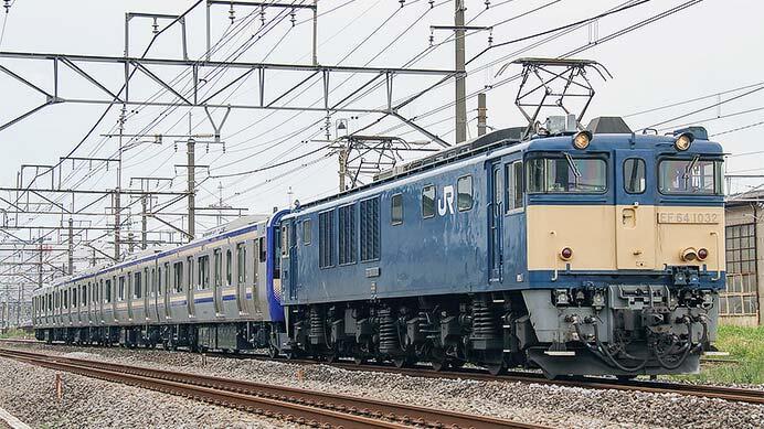 E235系1000番台J-13編成が配給輸送される