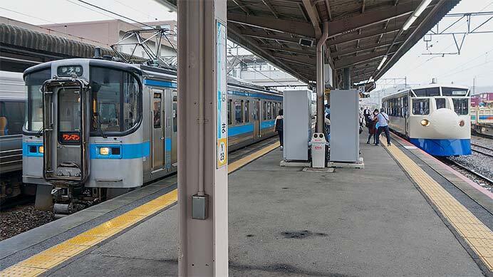 予讃線で「鉄道ホビートレイン」を使用した団臨運転