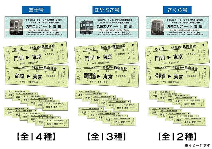 富士急行「復刻硬券付きブルートレインテラス専用入場券」発売