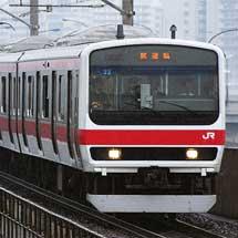 209系500番台ケヨ33編成が,試運転で東京へ