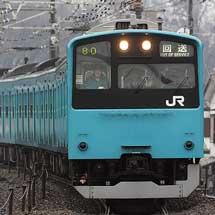 201系ケヨ71編成,長野へ回送される