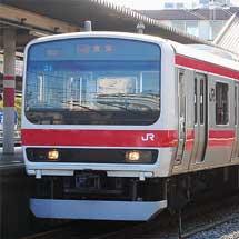 もとウラ82編成が京葉線で営業運転を開始
