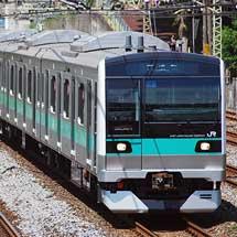 E233系2000番台,常磐線内で試運転