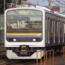 209系2000番台・2100番台C409編成が外房線で試運転を実施