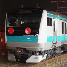 E233系ウラ177編成が甲種輸送される
