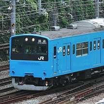 201系K1+51編成が東京総合車両センターを出場