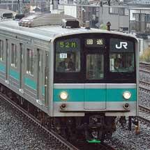 207系900番台マト71編成,尾久へ回送される