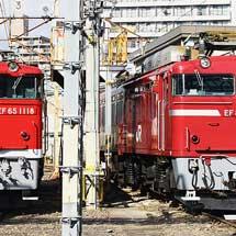 EF81 81とEF65 1118が並ぶ