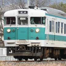 桜井線に113系が入線