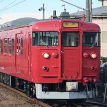 赤色となった415系C07編成が運用に入る