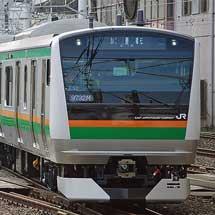 E233系3000番台E02編成+E52編成が出場