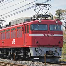 東北本線でEF81+24系の試運転