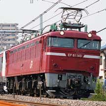 E233系ケヨ505編成の配給輸送をEF81 140がけん引
