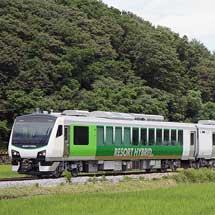HB-E300+キハE200,小海線で試運転