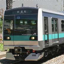 E233系2000番台,第2編成が松戸車両センターへ