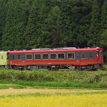 会津鉄道AT-700形が定期列車に併結される