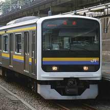 209系C603編成が幕張車両センターへ返却される