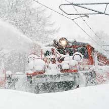 信越本線で特殊排雪列車