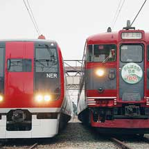 屋代駅で169系S51編成と2100系「スノーモンキー」が並ぶ