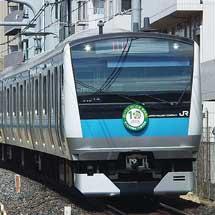 京浜東北線E233系などに「さいたま市誕生10周年」ヘッドマーク