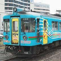 北近畿タンゴ鉄道KTR705に映画「けいおん!」ラッピング