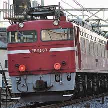 EF81 87が秋田総合車両センターへ