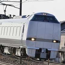683系4000番台T50編成が中間車増結の12両貫通編成で運転される