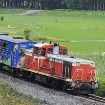 「アンパンマントロッコ」が水郡線で試運転