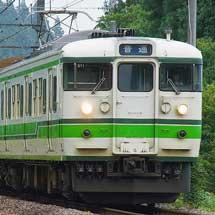 115系T1037編成が高崎へ戻る